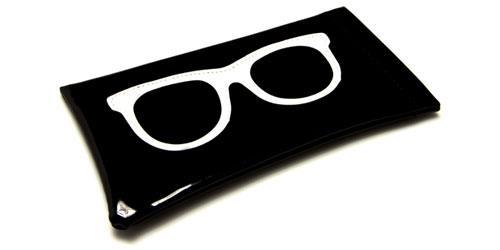 NEW SUNGLASSES POUCH CASE WHITE  BLACK  MENS LADIES WOMENS  READING GLASSES