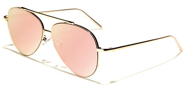 c10ad74b0 Details about DESIGNER FLAT LENS SUNGLASSES PINK ROSE GOLD LADIES WOMENS PILOT  MIRRORED UV400