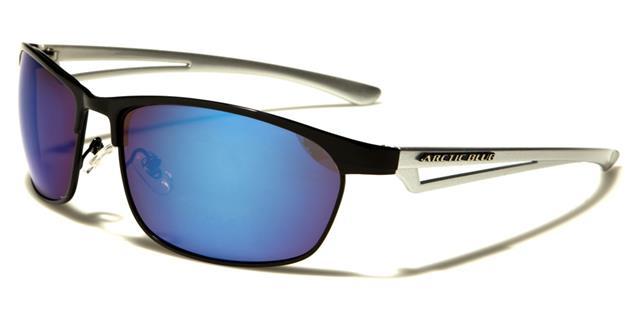 Arctic Blue, occhiali da sole modello unisex per sci/sport/corsa, lenti con protezione UV400, antiriflesso Bluetech