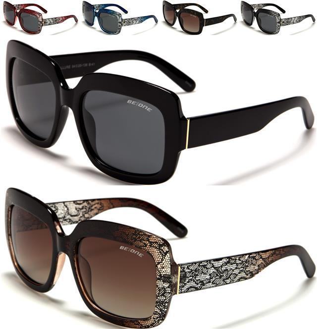 NEU polarisierte Sonnenbrillen Damen Designer groß fahren Cat Eye Retro Vintage F6kLxPSj