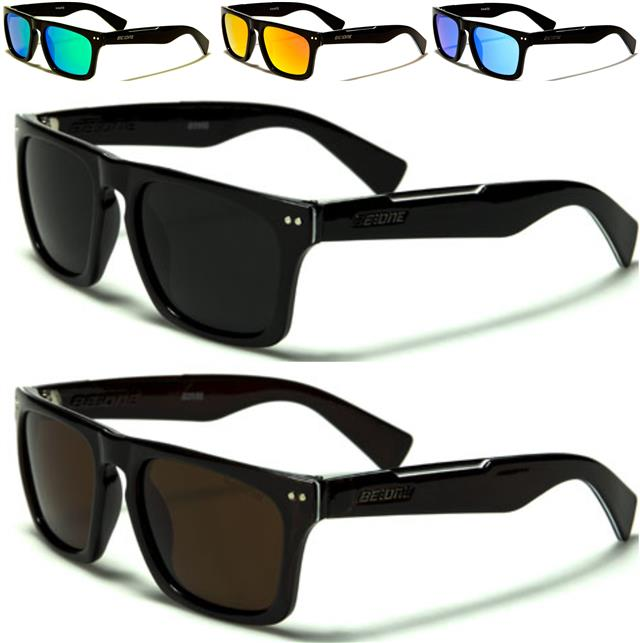 316e883d72f DESIGNER CLASSIC FLAT TOP POLARIZED SUNGLASSES RETRO BLACK MENS LADIES UV400