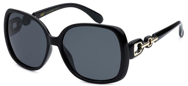 NEU schwarz polarisiert Designer Sonnenbrille Damen groß Retro gewickelt Vintage VSDgB906