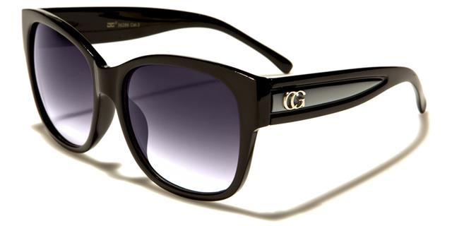Schwarze Sonnenbrille Damen Frauen Mädchen Designer Groß Cat Eye Big EUPs76tz8