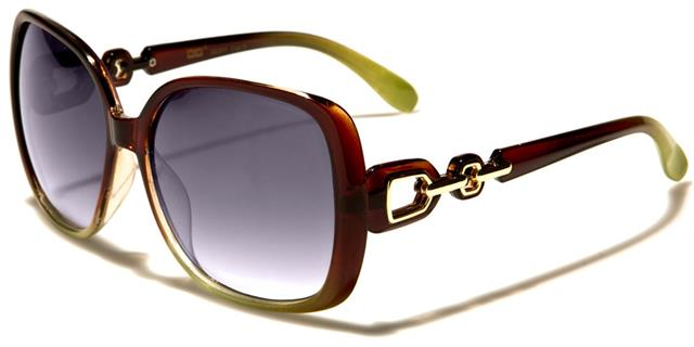 NEU schwarz braun lila Designer Sonnenbrille Damen Retro gewickelt klein Vintage pdBKI