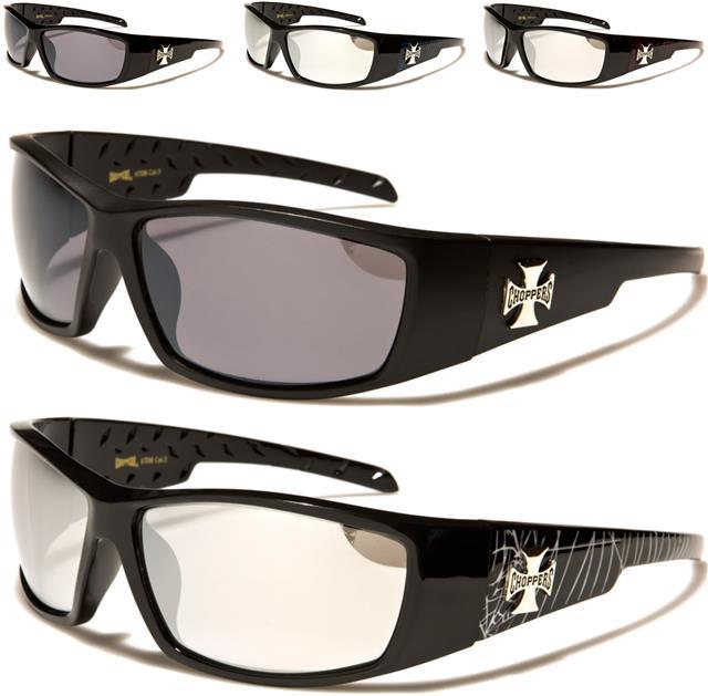 Homme enveloppent motard ski noir argent miroir visière lunettes de soleil shades étui