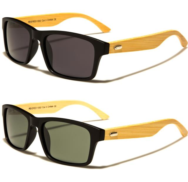 DESIGNER WOODEN POLARIZED SUNGLASSES CLASSIC WOOD BAMBOO BIG MENS LADIES WOMENS