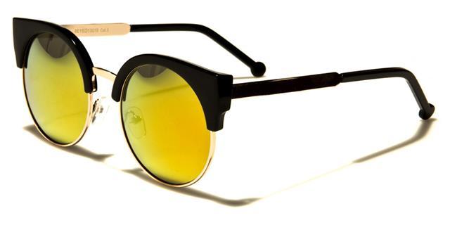 NEU schwarze Sonnenbrille Damen Vintage Cat Eye rund Retro Designer UV400 PLckvv1q