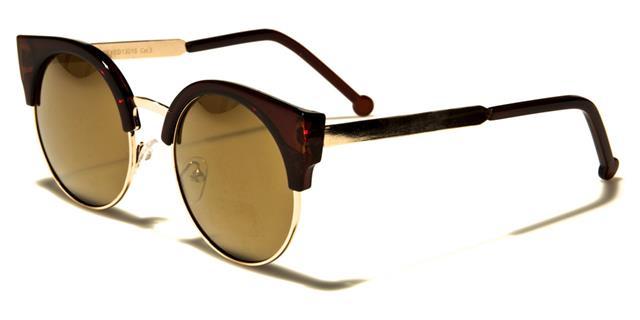 NEU schwarze Sonnenbrille Damen Vintage Cat Eye rund Retro Designer UV400 iiYqS