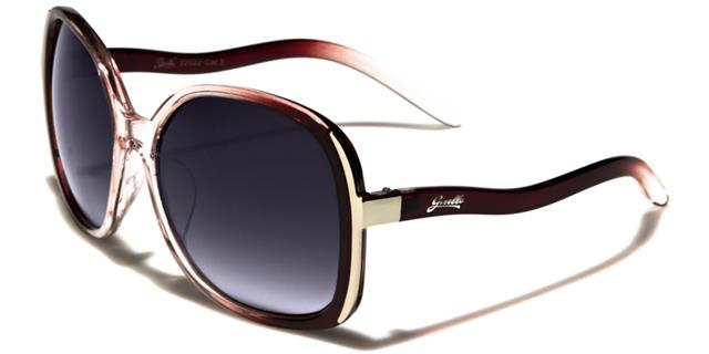 designer oversized sunglasses  NEW GISELLE SUNGLASSES DESIGNER LADIES WOMEN VINTAGE BLACK ...