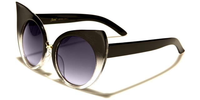NEU schwarz braun Sonnenbrille Damen Mädchen Groß retro groß Vintage Designer Koxaj1Dmr
