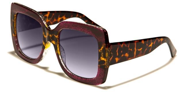 Designer Surdimensionné Papillon Lunettes de soleil Square-Grande Big Mesdames Femmes IG ®