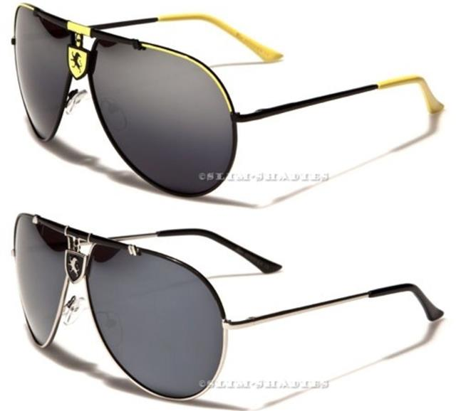 Fashion Designer Shield Aviator Large Sunglasses Men Women Black White Glass Usa Innovatis Suisse Ch
