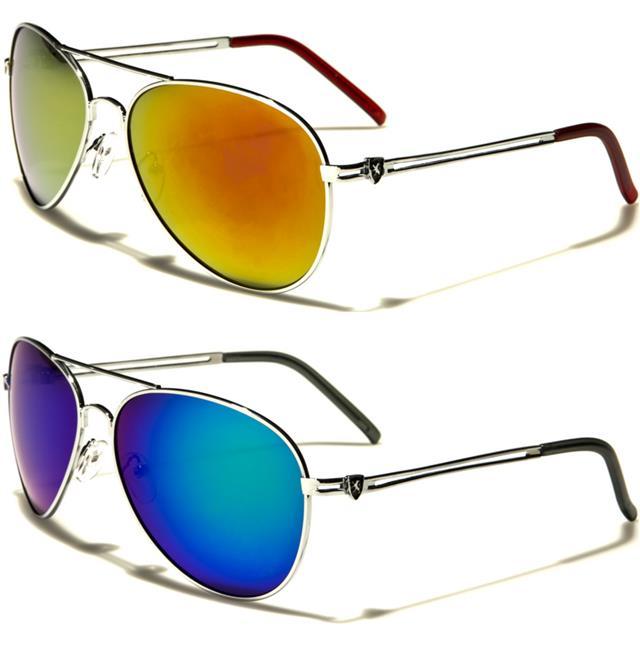 Mirrored Pilot Sunglasses Designer FBI Police Retro Metal Vintage Ladies Mens