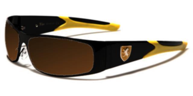 polarisierte Sonnenbrillen schwarz Herren Damen Designer Sport Schild fahren LFaAh
