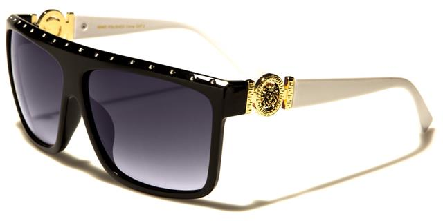 NEU schwarz Designer Sonnenbrille Damen Mädchen groß Schild Retro gewickelt groß F4dxU