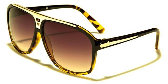 NEU schwarze Sonnenbrille Damen Herren Flieger Designer Großer Retro Vintage dRNsUrh
