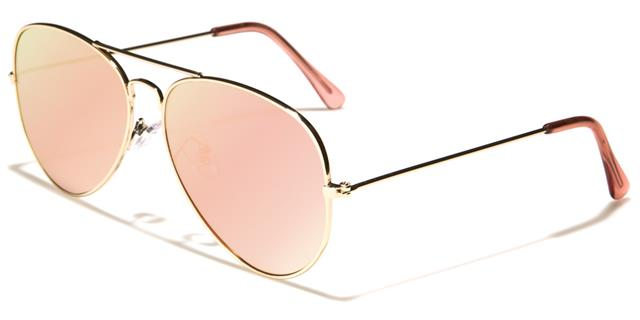 7d9f31dc9 Details about DESIGNER FLAT LENS SUNGLASSES PINK ROSE GOLD PILOT SMALL  MIRRORED LADIES WOMENS