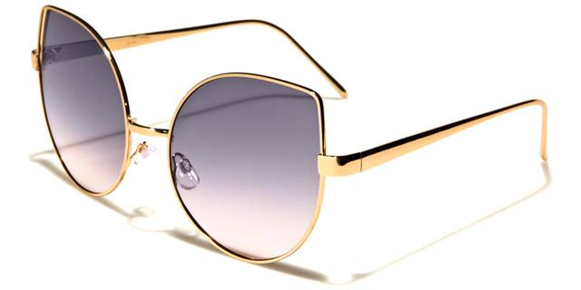 Sonnenbrille Damen Mädchen Designer flaches Brillenglas Spiegel CAT EYE 9kQA6