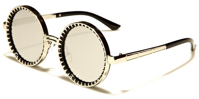neue Sonnenbrillen Damen Damen Mädchen Designer rund steampunk gespiegelt Pxn3B