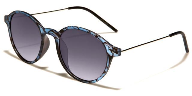 NEU schwarze Sonnenbrille Herren Damen Designer rund flaches Brillenglas Retro S1YopjZg