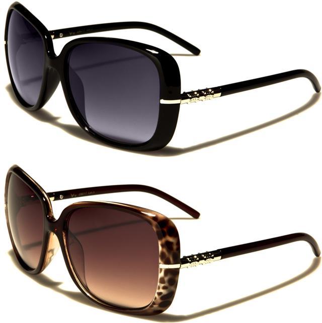 NEU schwarz Designer Sonnenbrille Damen Mädchen großer Schmetterling Vintage XGPkB