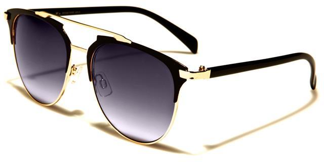 Designer Schwarze Sonnenbrille Piloten Damen Mädchen Flieger groß Retro Vintage UZpZZ