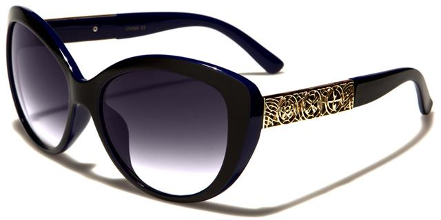 NEU schwarze Sonnenbrille Damen Mädchen Designer Cat Eye Retro Vintage UV400 7FLaV