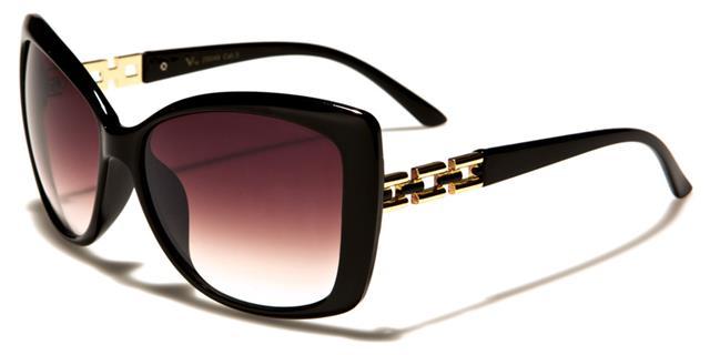 VG schwarze Sonnenbrille Damen Mädchen Designer gewickelt Retro Schmetterling Gkv28Z