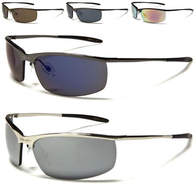 sport rahmenlosen x loop sonnenbrille metall gewickelt. Black Bedroom Furniture Sets. Home Design Ideas