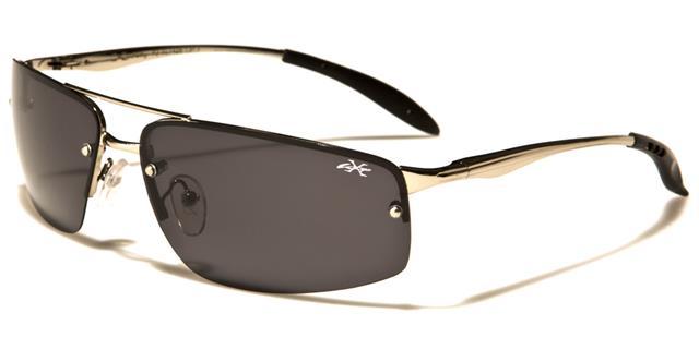 Nouveau XLOOP sport hommes femmes métallique sans monture designer wrap miroir lunettes de soleil UV400