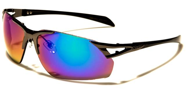 NEU X-Loop Sonnenbrille Herren Damen Metall Wickel Sport rahmenlosen Laufen prQCNgY