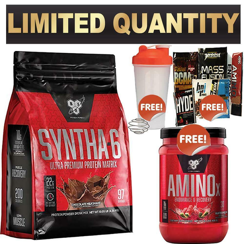 Bsn Syntha 6 10lbs 4 5kg Wpi Wpc Blend Protein Powder Syntha6 Amino X 30 Ebay