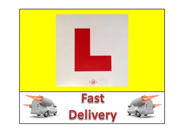 2 L PLATES MOTORCYCLE SCOOTER CAR LORRY VAN 2 X NEW HARD SHATER ...