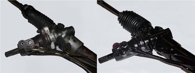 Vauxhall Vectra C Remanufactured Power Steering Rack Pump Mounted On Rack