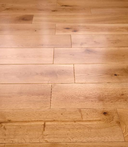Real Solid Oak Lacquered Finish 18mm x 150mm Hardwood Flooring Rustic Wood