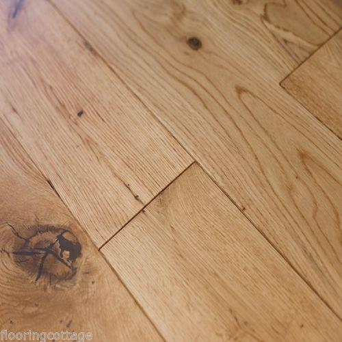 Real Solid Oak Lacquered Finish 18mm X 150mm Hardwood Flooring