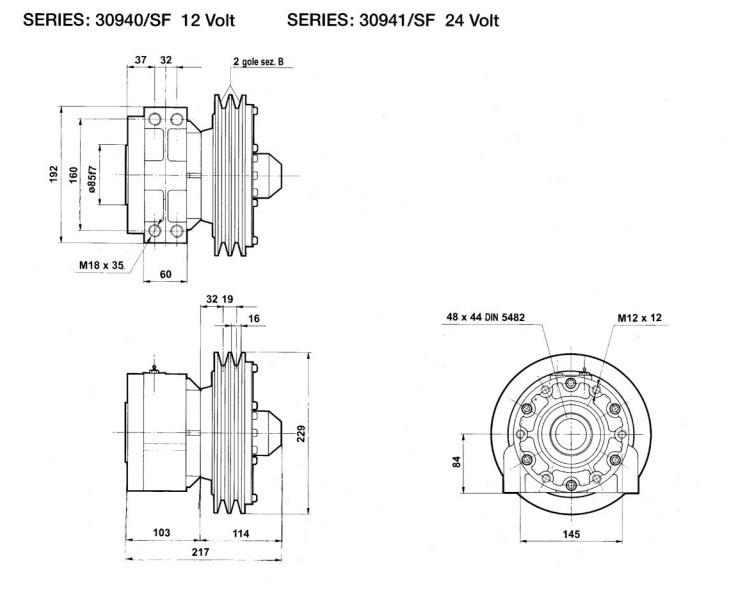 Flowfit Hydraulic Electro Magnetic Clutch Amp Pump 12v