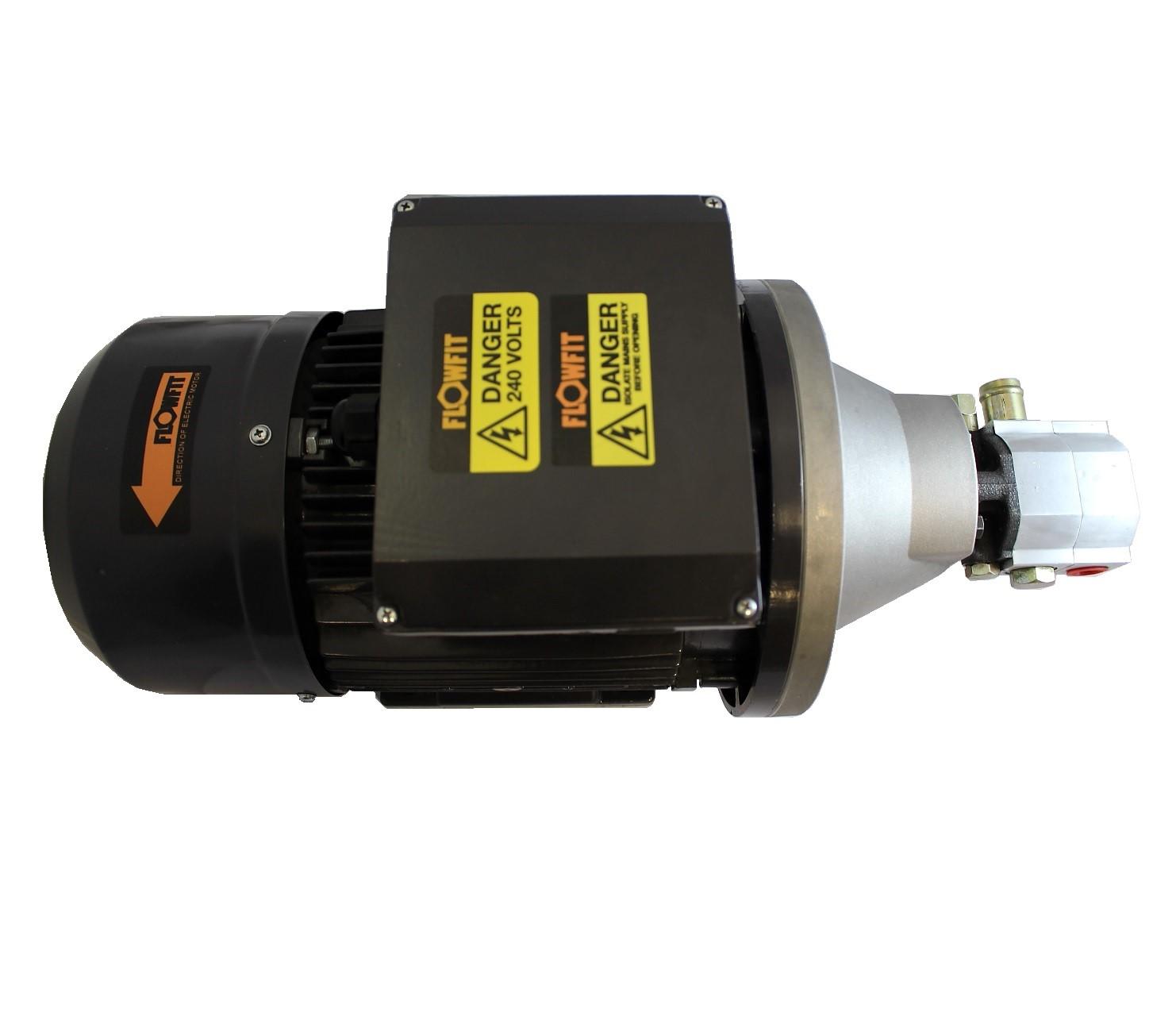 Hydraulic electric motor pump set 3 7kw 240v single phase for Electric motor hydraulic pump