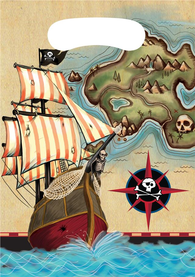 CLEARANCE Pirate Party Skull /& Crossbones Loot Bags x 8