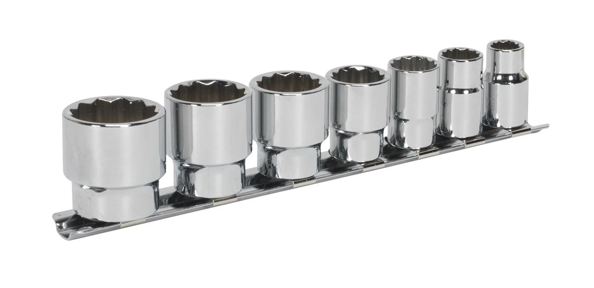 Sealey Socket Set 7pc 3//8Sq Drive Whitworth