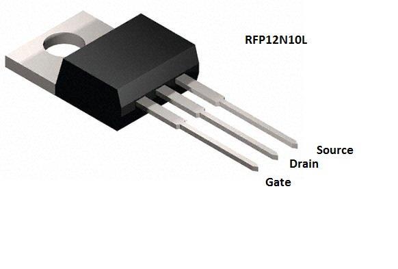 2 x MOSFET Transistor RFP12N10L 100V, 12A, Logic Level Gate for ...