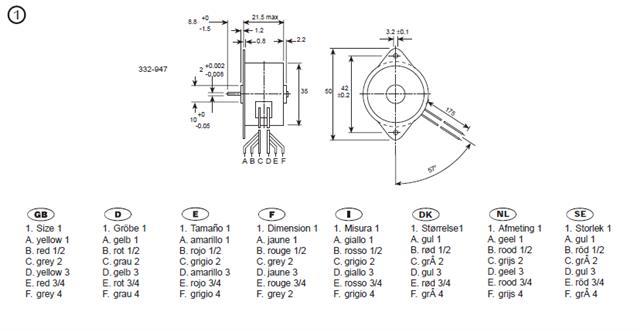 1 X Philips 12 V DC 100 mA 7.5 Degré 4 plomb aimant permanent photorépéteur Motor