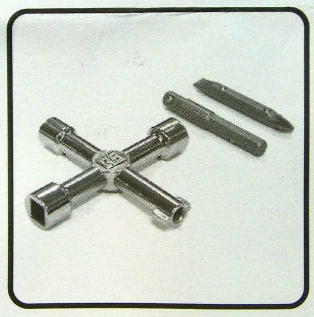 Rs Pro Zinc Universal Electrical Cabinet Cross Wrench Key
