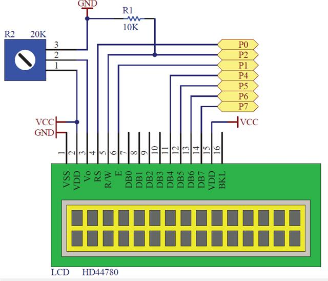 Lcd display white on black backlight v arduino basic