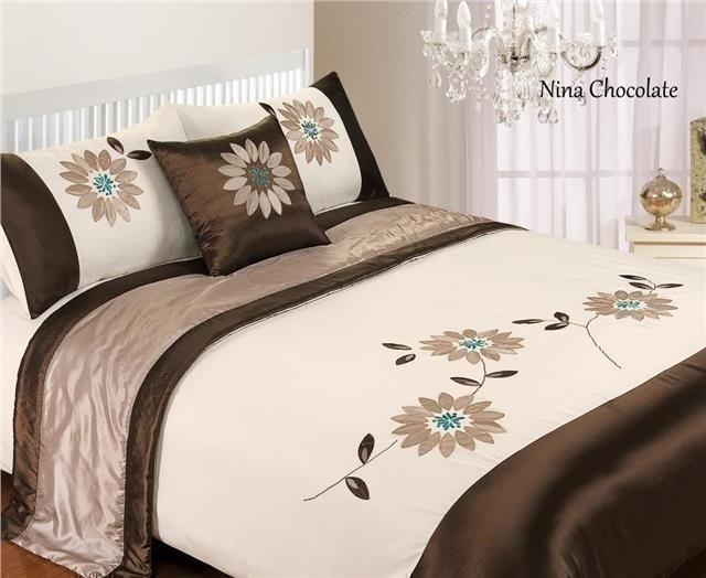 5 Piece Bed in a Bag Bedding Duvet Quilt Cover Set, Double & King Size