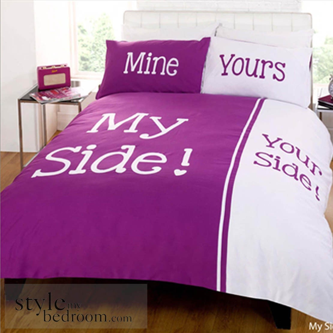 My side your side retro chic duvet quilt cover bedding for Style my bedroom