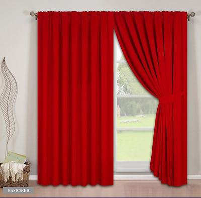 Pair-Fully-Lined-Faux-Silk-Plain-Curtains-in-Eyelet-or-Tape-Top thumbnail 12