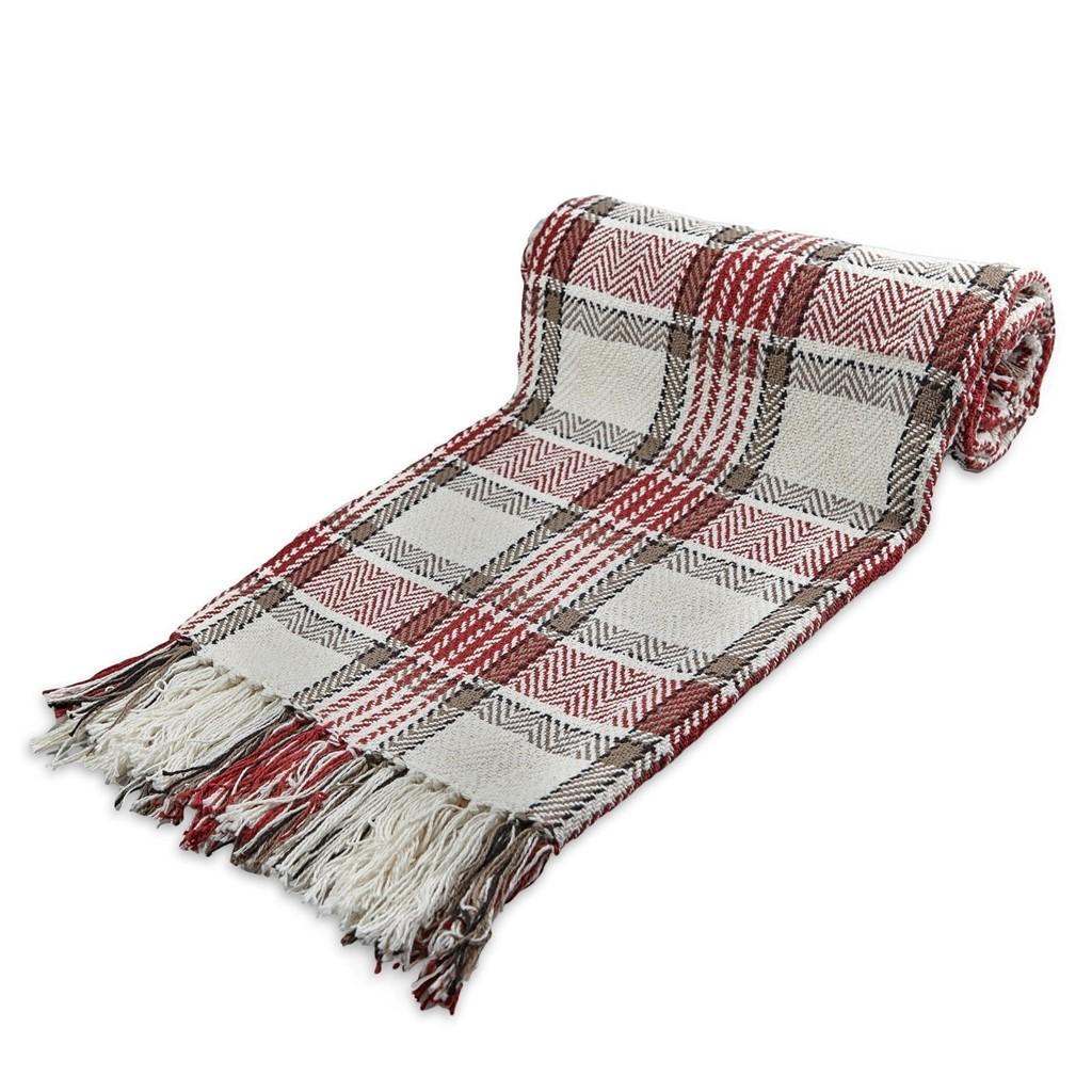 Large 100% Cotton Highland Tartan Check Sofa / Bed Throw 4