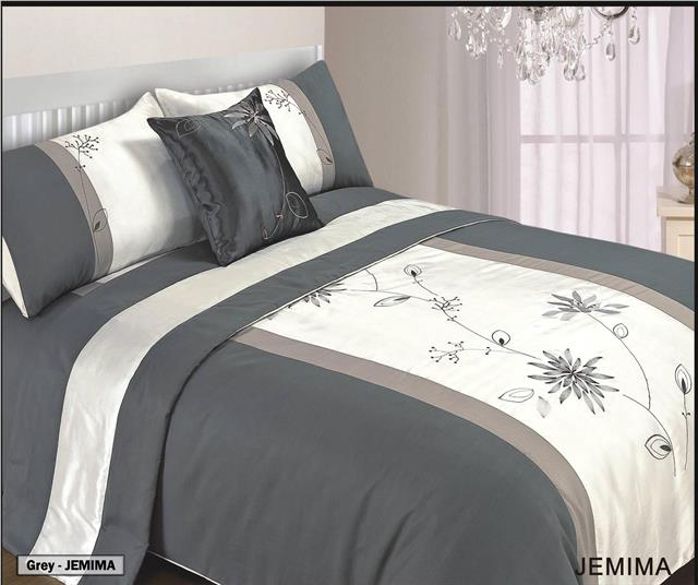 5 Piece Bed in a Bag Bedding Duvet Quilt Cover Set Double