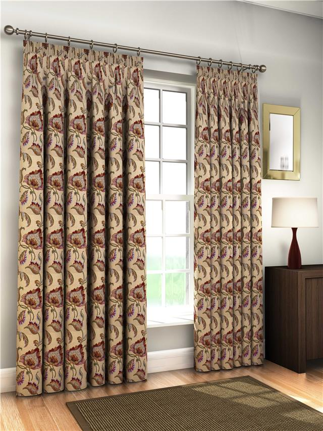 Lined natural tapestry jacquard curtains ties 8 sizes ebay for Style my bedroom